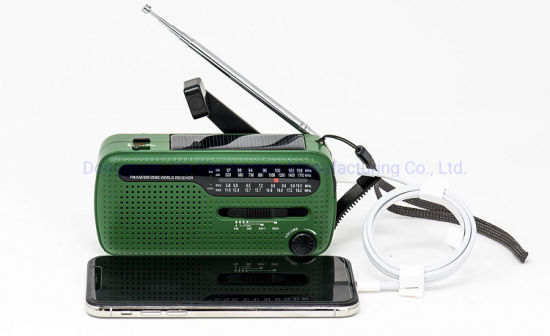 Hot Selling 3 PCS LED Emergency Crank USB Port Solar Radio pictures & photos