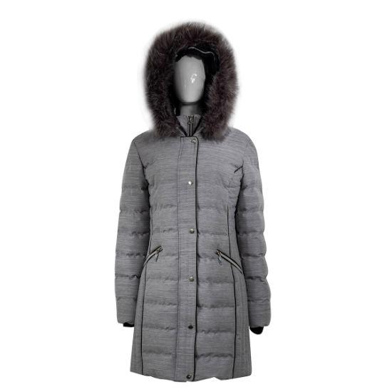 Fake Fur on Hood Edge Quilt Padding Jacket