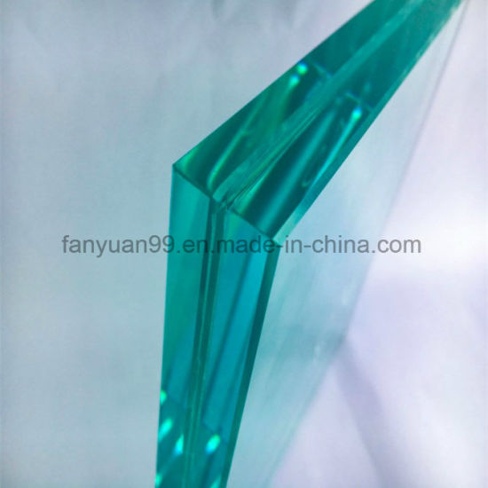 Fashion Building 3300*2140mm PVB Film 0.38-3.8mm Laminated Glass for Curtain Wall