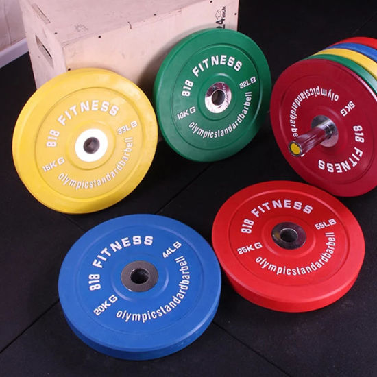 Custom Fitness Power Training Gym Competition Rubber Color Bumper Barbell Weight Lifting Plates pictures & photos