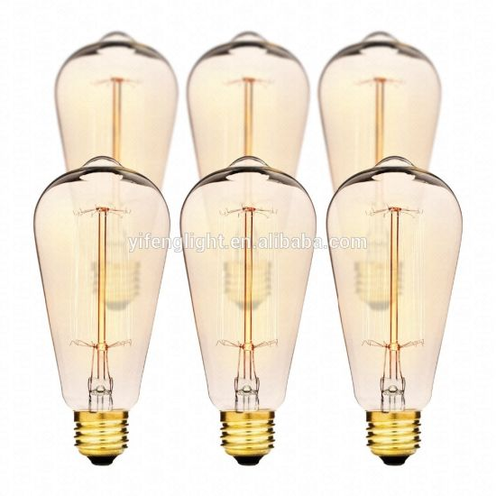 LED Edison Vintage Squirrel Cage Filament Bulbs, 60W St64 E27 pictures & photos