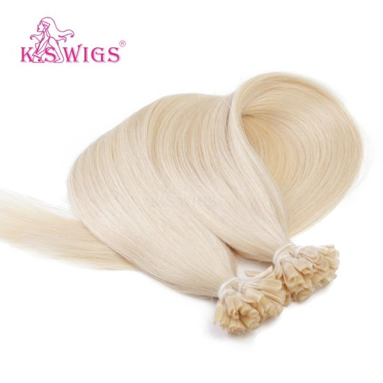 Blonde Color 7A Grade Brazilian Hair U Tip Hair Extensions Keratin Human Hair pictures & photos