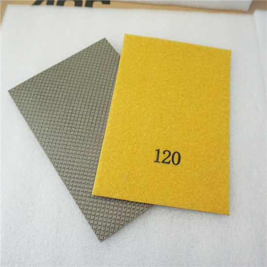 Diamond Electroplated Hand Polishing Pad pictures & photos