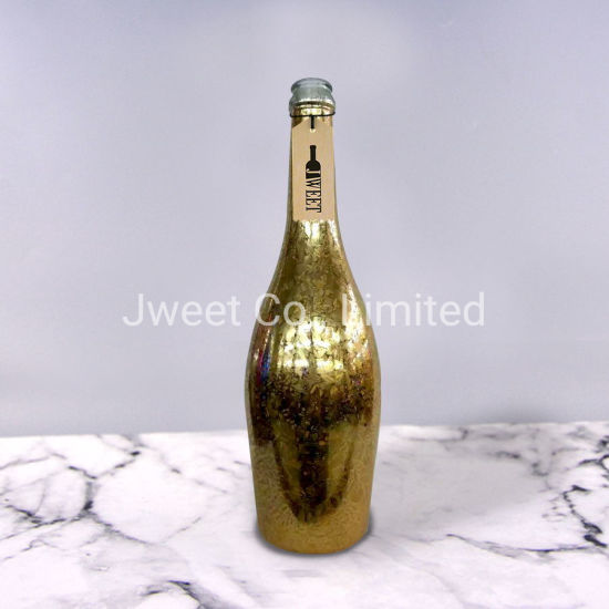 Rose Gold Plating Glass Liquor Bottle 750ml