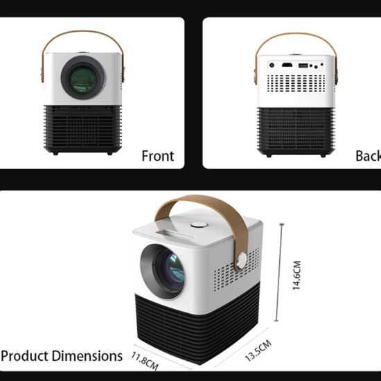 Mini WiFi Bluetooth Android Projector 2020 New Technology for Multimedia Home Theater