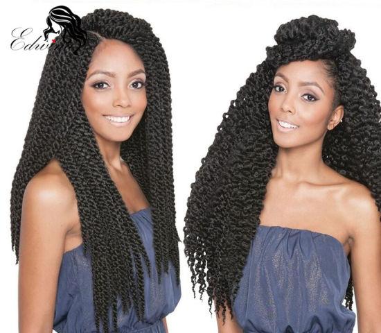 Queen Hair Products 3d Cubic Twist Split Braids Style Ombre