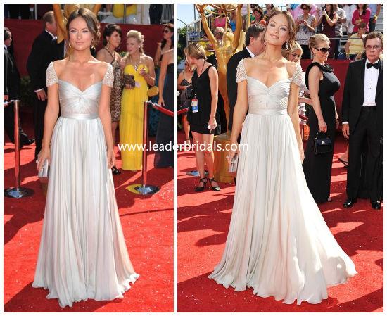 Cap Sleeves Bridesmaid Dresses Empire Chiffon Formal Evening Dress Yao45