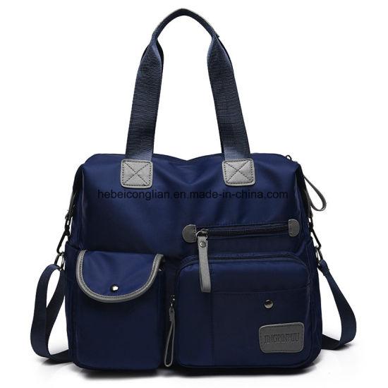 3fd092e8a3c0 China Fancy Multifunctional Waterproof Nylon Black Handbag for Woman ...