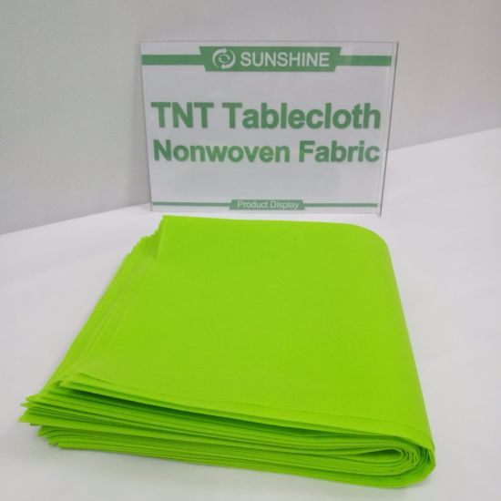 Pre-Cuted Disposable Non-Woven Table Cloth pictures & photos