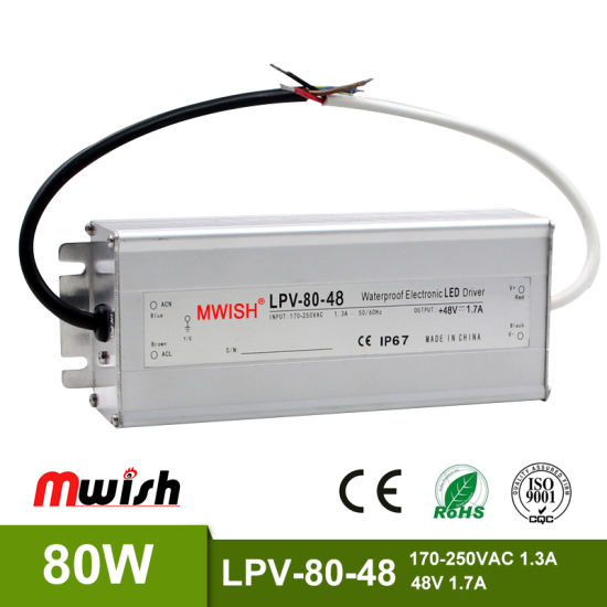 China LED Driver 48V 80W 1 7A Constant Voltage Switching