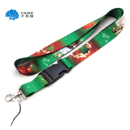 High Quality Breakaway Custom Polyester Sublimated Lanyards for Mobile Phone pictures & photos