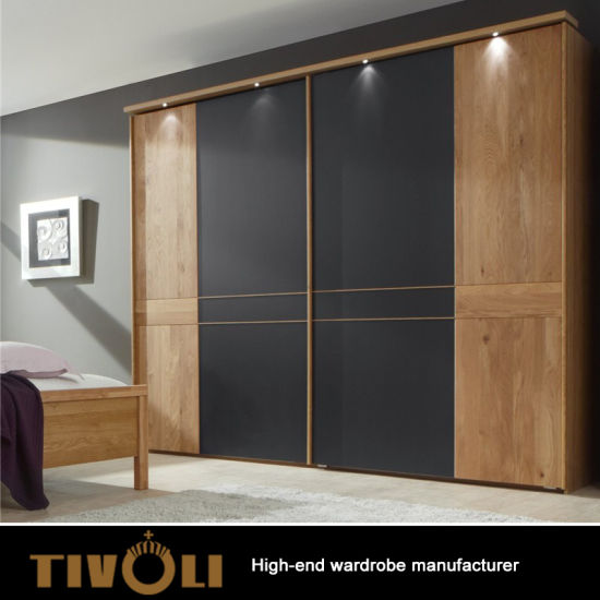 China Supplier Modern Bedroom White Wardrobe Closet Design TV 0336
