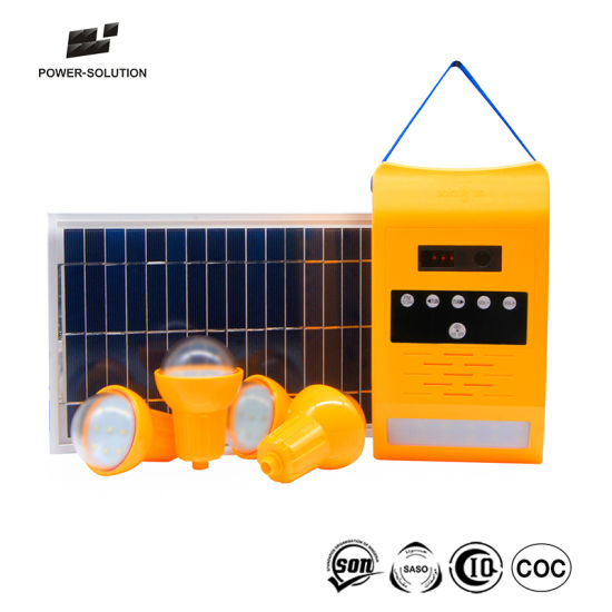 Portable PV Solar Panel Power Energy Home System with Light pictures & photos