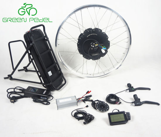 Greenpedel Electric Motor for Bicycle, Ebike Hub Motor Conversion Kit with  Battery