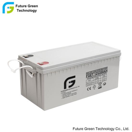 Lead Acid Deep Cycle Portable Solar Energy Panel Gel Battery Storage System 12V Solar Battery Storage 200ah 100ah