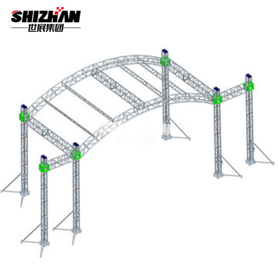 China On Sale Cheap Light Weight Steel Curved Roof Truss Design China Aluminum Truss Roof System Steel Round Roof Truss Design