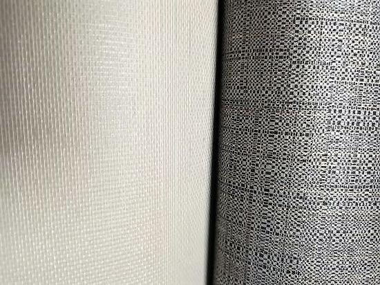 White Polyester Cotton Mesh Texture Cloth Osnaburg Weave Fabric Composite Scrim