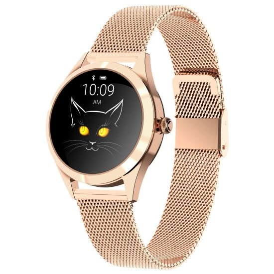 Hot Sale an-Kw10 IP68 Waterproof Stainless Steel Fitness Women Smart Watch Support Heart Rate, Sports Mode, Sleep Tracker