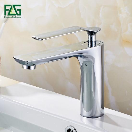 Flg 4 Type Single Hole Chromed Basin Tap/Faucet
