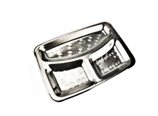 Stainless Steel Kitchenware Oval Tray in Sqare Design Sp003