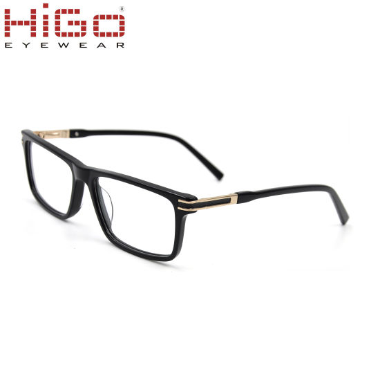 Higo New Stock Acetate Optical Frame Wholesale Eye Glasses Frame