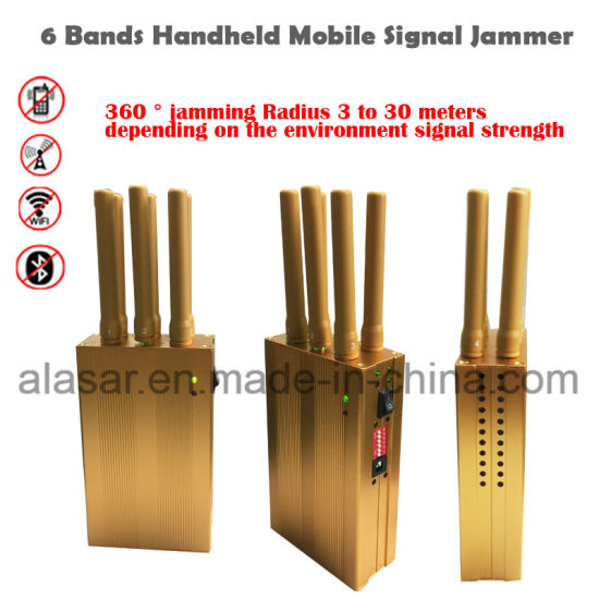 China 6 Bands Handheld Gps Wifi 4g Lte Mobile Signal Jammer