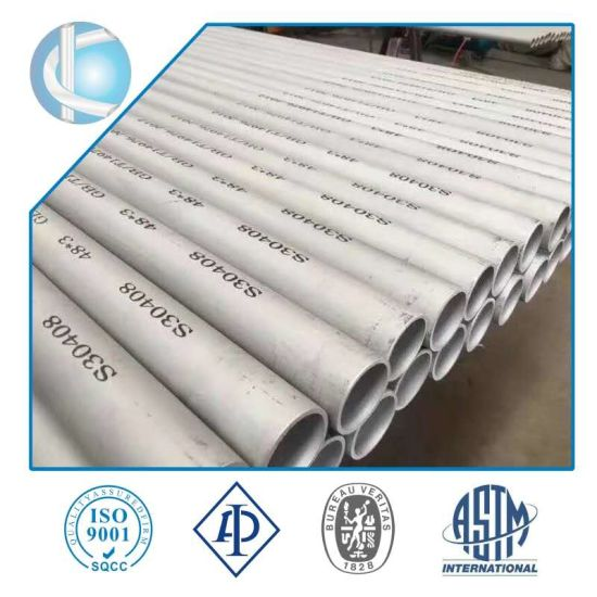 Seamless Duplex Stainless Steel Pipe in Stock (SS304 SS316 S31803 S32750 S32205 SAF2507)
