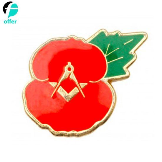 Masonic Poppy Lapel Pin Badge