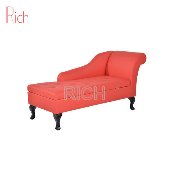 China Latest Chesterfield Wooden Sofa Set Chaise Lounge Sofa Set