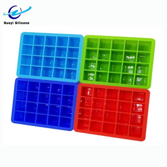 Hot Sale Mini Square 15 Cavity Silicone Ice Cube Tray