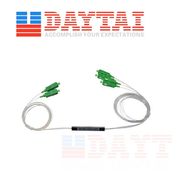 0.9mm Mini Type 2X4 Fiber Optic PLC Splitter