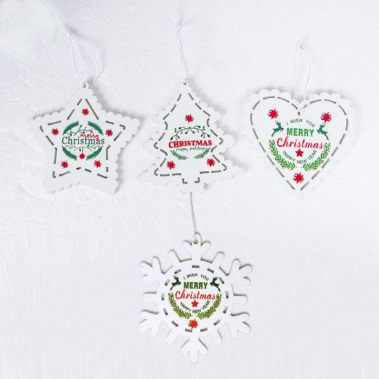 China Supplier Wholesale OEM Wooden Christmas Hanging Wall Decoration