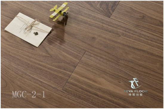 China Stained Engineered Wood Flooring Brushed Sawn Marks