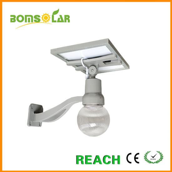 Aluminium Solar Moon Wall Light 10W 20W with Two Color LEDs, Wall Mount All in One Solar Lights for Garden