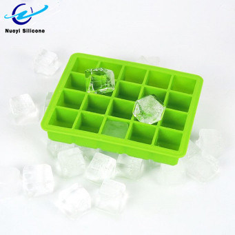 Colorful DIY Silicone 20 Cavity Ice Cube Mold Maker