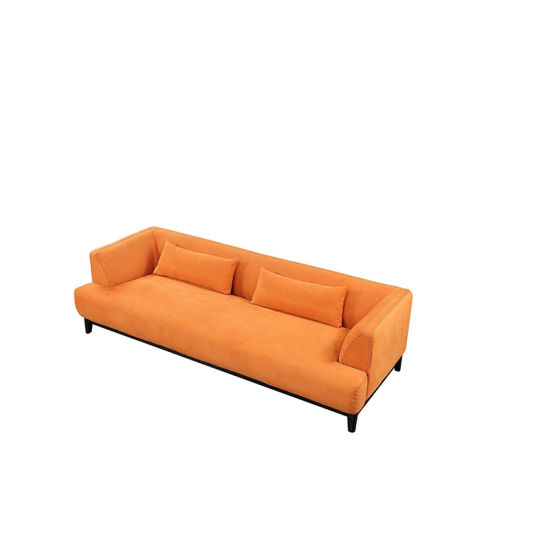Velvet Small Comfortable Sofa Bed With Armrest