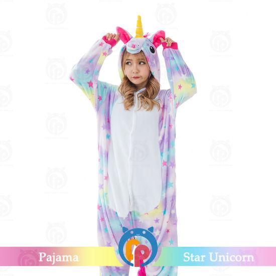 Kigurumi Cosplay Romper Charactor Animal Hooded Costumes for Women