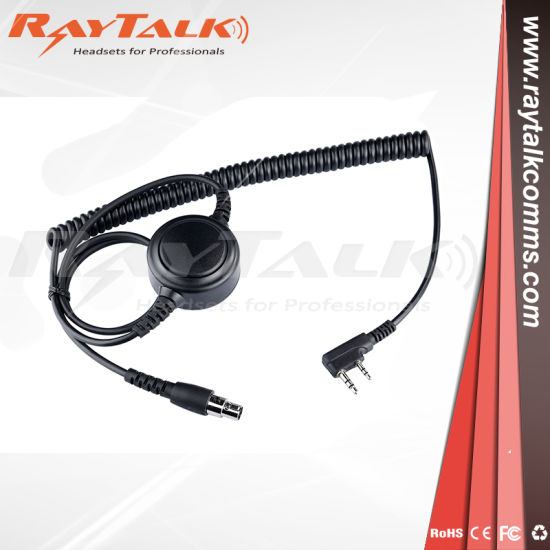 China 5 Pin Cables for Motorola Radio with Big Round Ptt - China