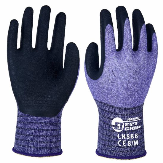 Super Durable and Comfortable! 15g Nylon/Spandex Latex Hand Safety Work Gloves