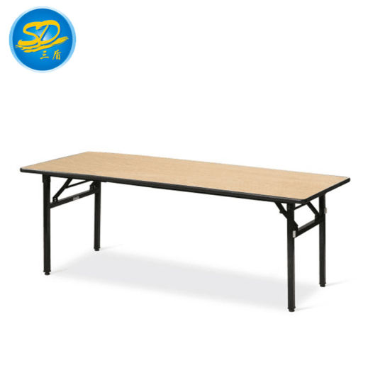 China Factory Directly Sell Rectangle 1 5m 1 6m 1 8m Folding Table For Dining China Plywood Pvc Table Outdoor Table