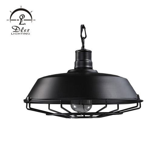 Black Pendant Light Industrial Metal Kitchen Lighting