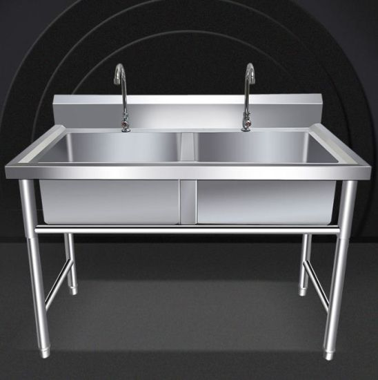 304 Stainless Steel Commercial Used Freestanding Legging Compartment Single Bowl Kitchen Sink With Without Shelf China Freestanding Kitchen Sink Commerical Restaurant Sink Made In China Com