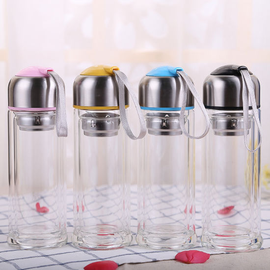 Small Fresh Glass Water Bottle Student Cup Portable