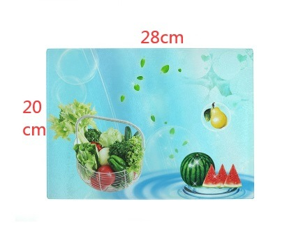 Sublimation Blank White Glass Cutting Board with Foot Pad Rectangle