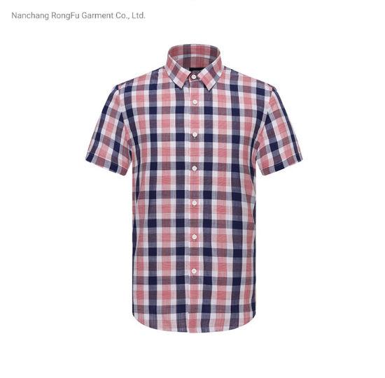 Pure Cotton Comfortable Shirt Mens Bussiness Casual Plaid Shirt