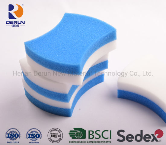 "Derun PU Foam with Melamine Sponge ""Waist"" Shape Cleaning Sponge"