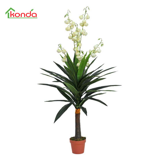 Decorative Artificial Potted Yucca Gloriosa Flower