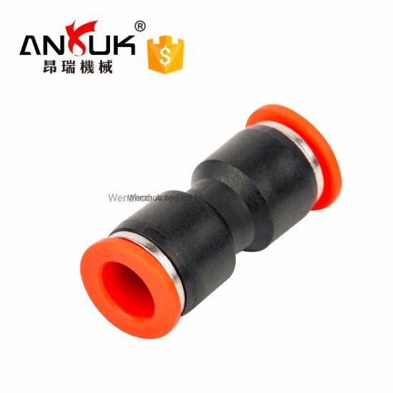One Touch Stright Plastic Pneumatic Pipe Fitting