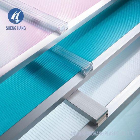 China 8 Walls Rectangle Structure U Lock Polycarbonate Roof Panel China Polycarbonate Sheet Polycarbonate Board