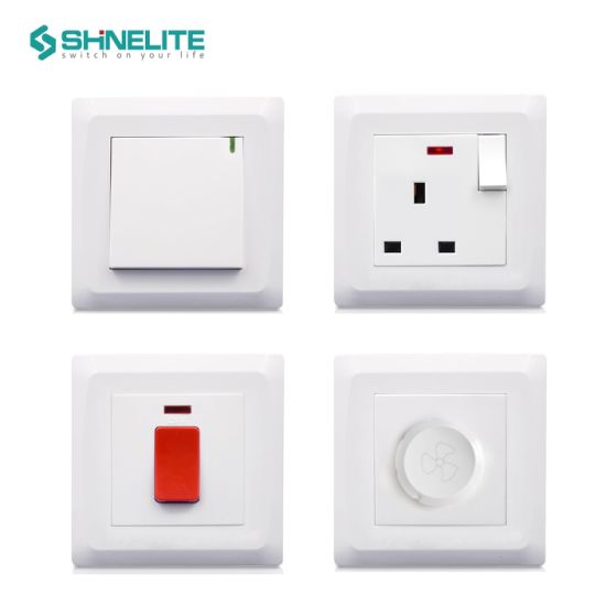 86X86mm Plastic Plate 250W Dimmer Switch for Home